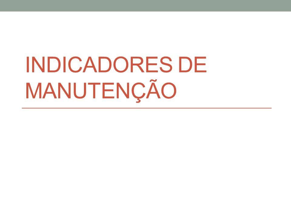 INDICADORES DE MANUTENÇÃO