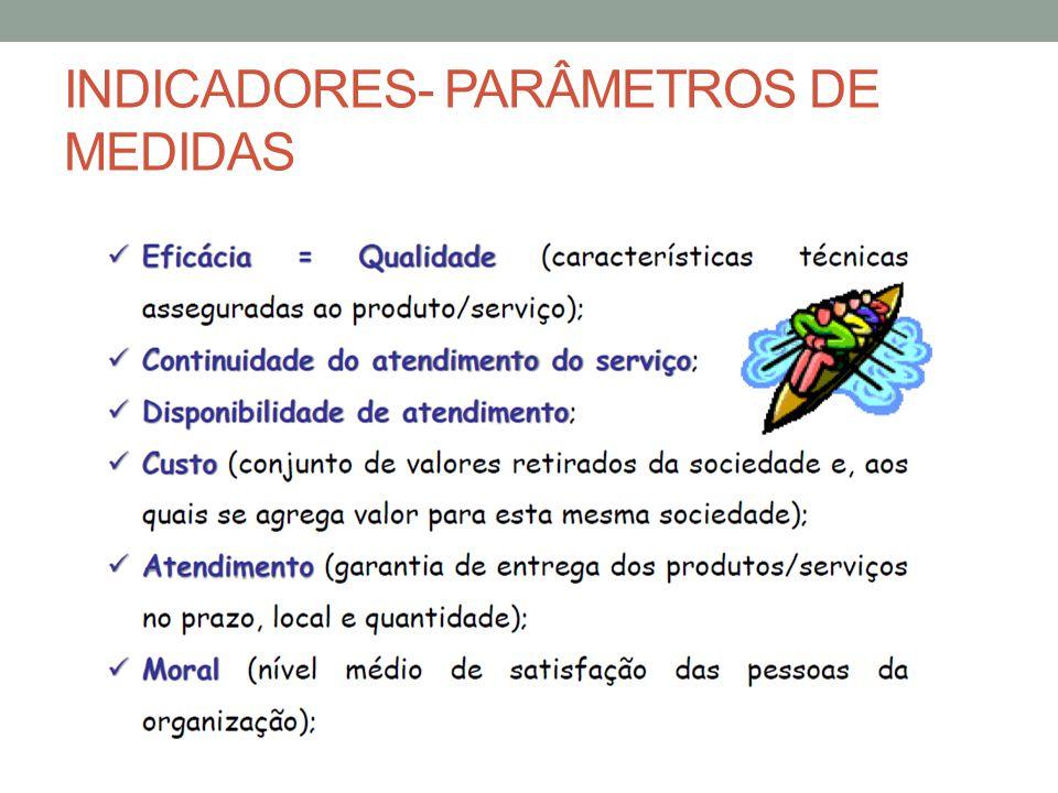 INDICADORES- PARÂMETROS DE MEDIDAS