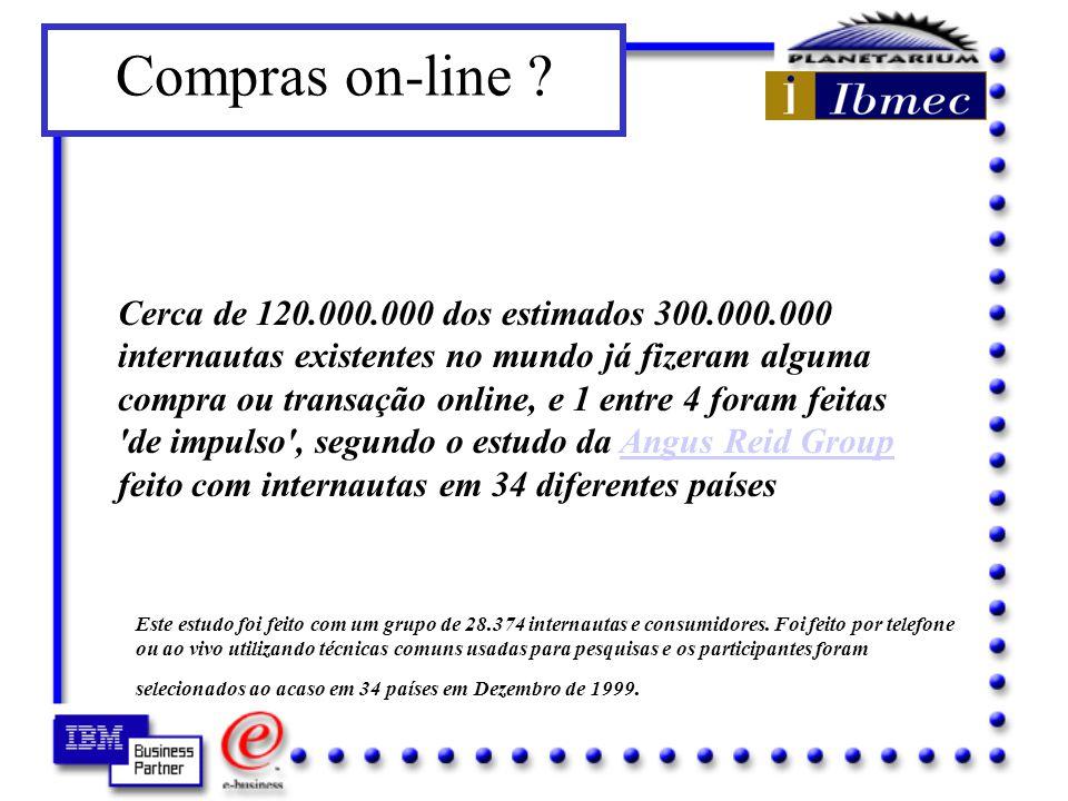 Business to Business - B2B –fornecedores, parceiros, clientes Business to Consumer - B2C –consumidor final Fonte: IDC - Global Market Forecast for Internet - 1999 Como usar a Internet na minha empresa.