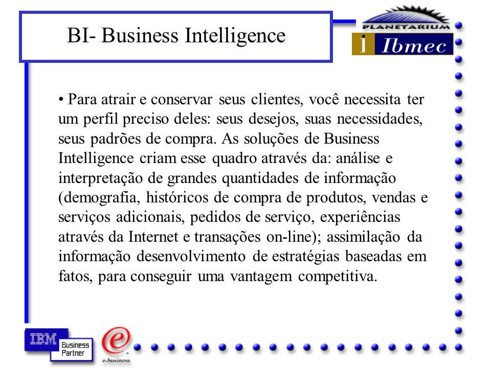 6- BI- Business Intelligence A informação deixou de ser um instrumento tático para se transformar em um diferenciador estratégico que separa os negócios de alto crescimento dos que serão deixados para trás.