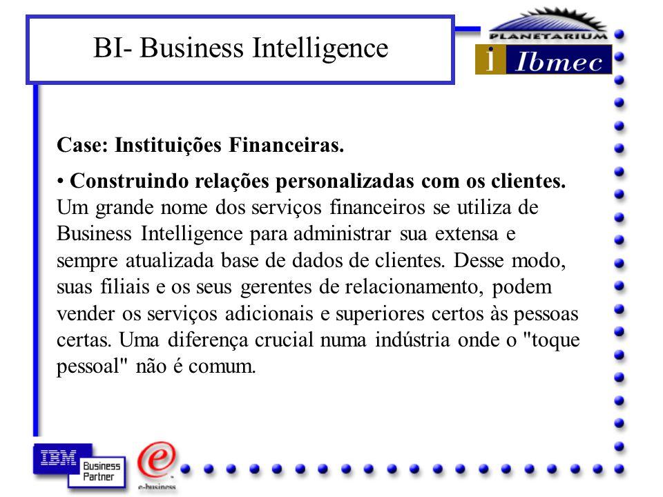BI- Business Intelligence Para atrair e conservar seus clientes, você necessita ter um perfil preciso deles: seus desejos, suas necessidades, seus padrões de compra.