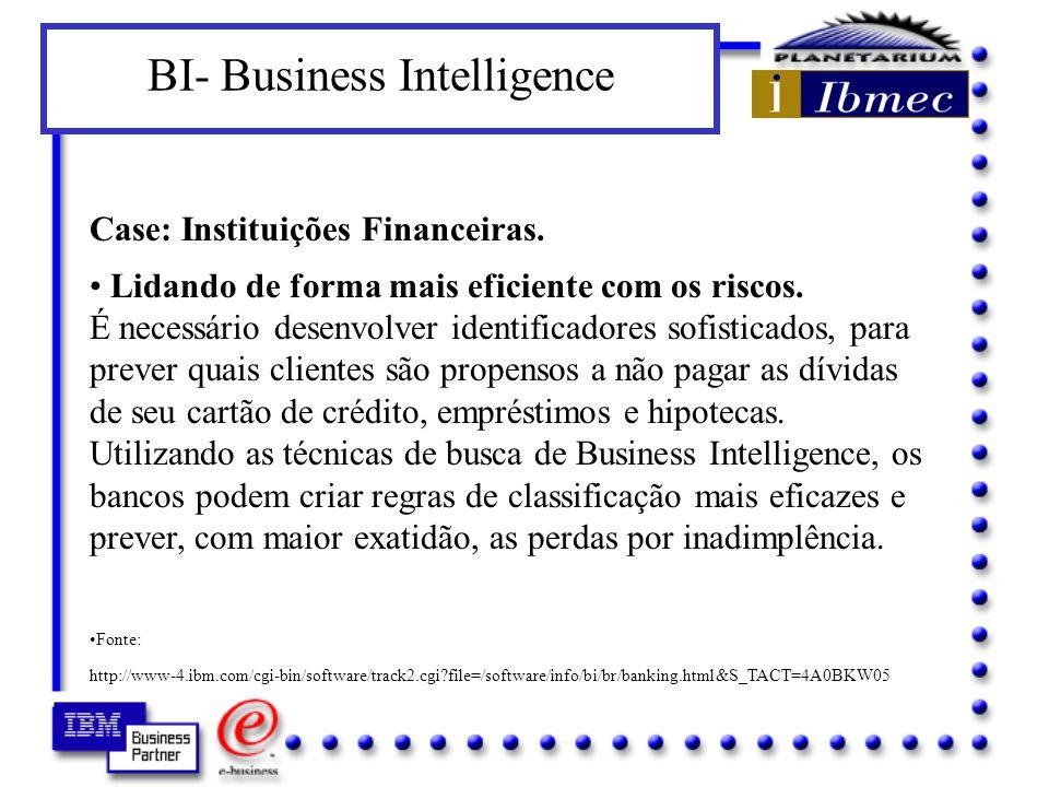 BI- Business Intelligence Case: Instituições Financeiras.