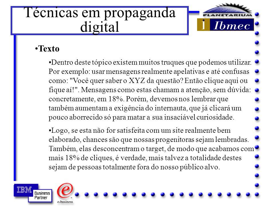Técnicas em propaganda digital Título David Ogilvy dizia que em média, cinco vezes mais pessoas lêem o título do que o texto.