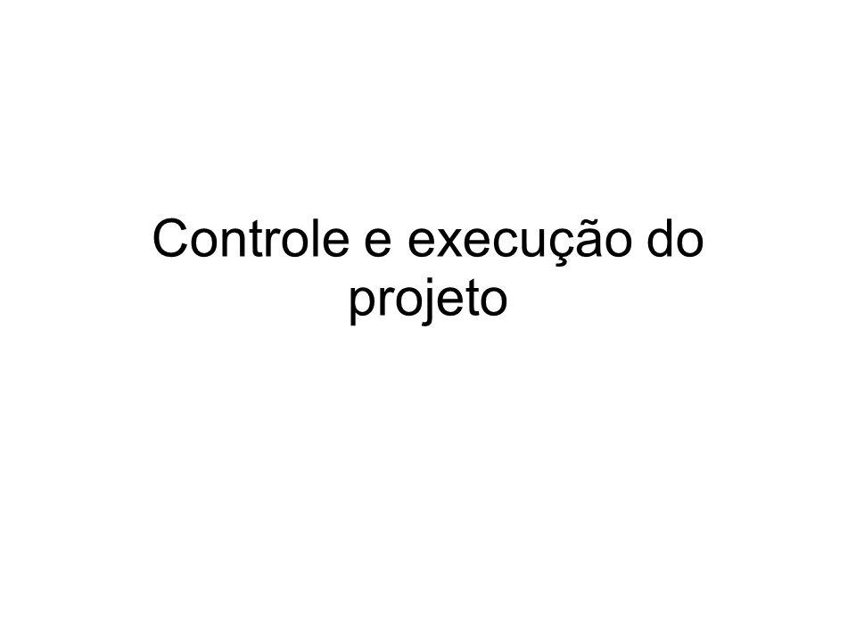 Controle e execução do projeto
