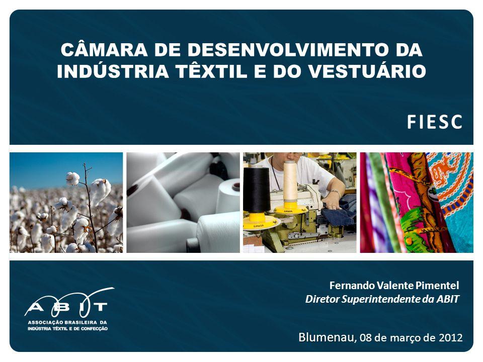 NOSSO OBJETIVO O propósito da ABIT neste encontro é trazer uma visão da Cadeia Têxtil e de Confecção, bem como as atuais propostas e ações em curso.