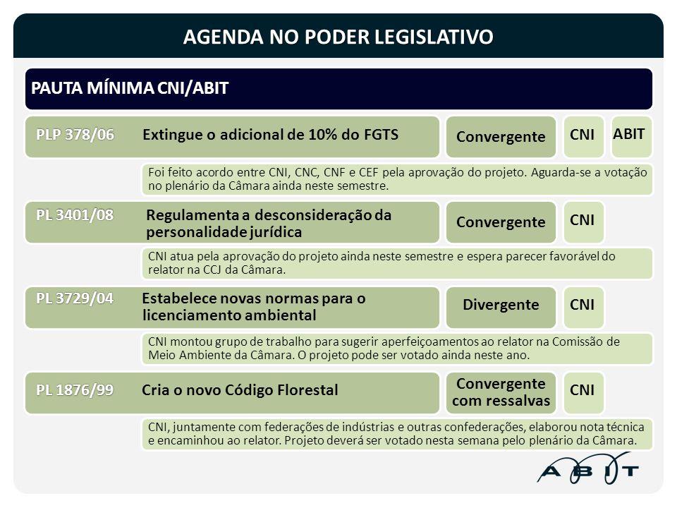 Foi feito acordo entre CNI, CNC, CNF e CEF pela aprovação do projeto. Aguarda-se a votação no plenário da Câmara ainda neste semestre. CNI, juntamente