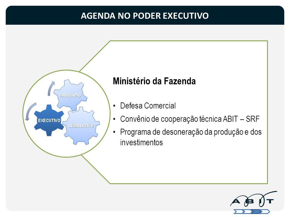 Ministério da Fazenda Defesa Comercial Convênio de cooperação técnica ABIT – SRF Programa de desoneração da produção e dos investimentos AGENDA NO POD