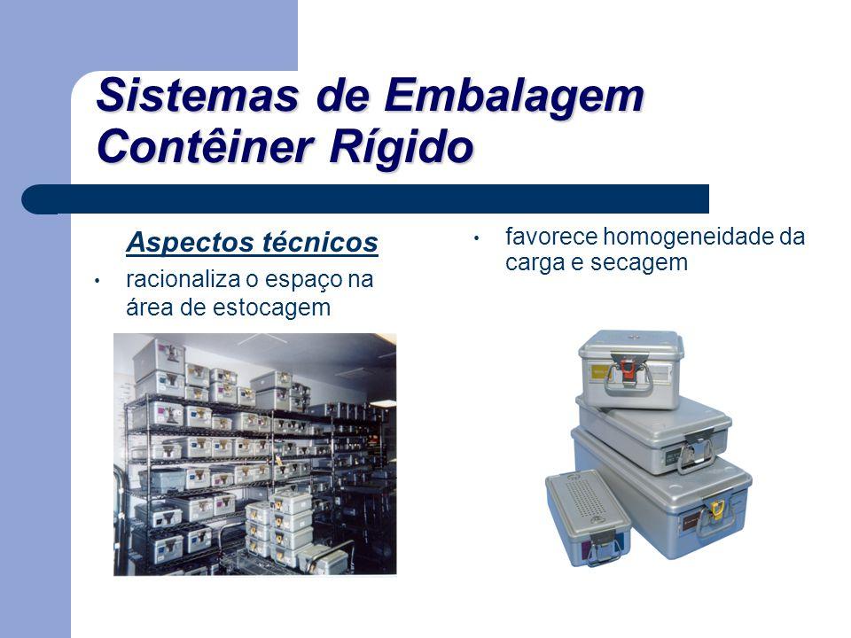 Sistemas de Embalagem Contêiner Rígido Aspectos técnicos racionaliza o espaço na área de estocagem favorece homogeneidade da carga e secagem