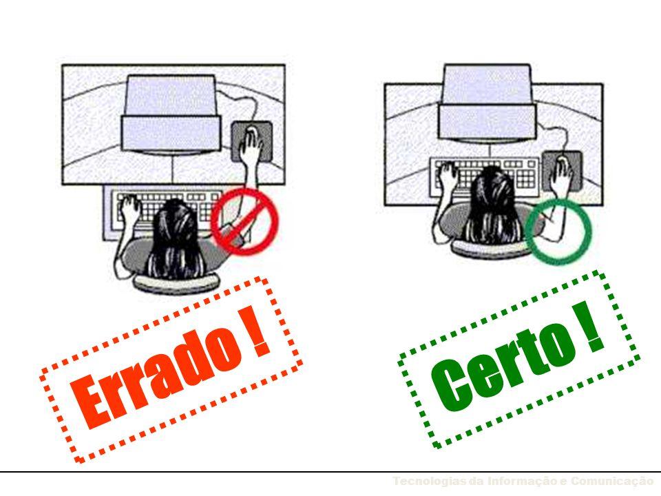 Fadiga visual Posicione o monitor mesmo à sua frente e não de um dos lados.