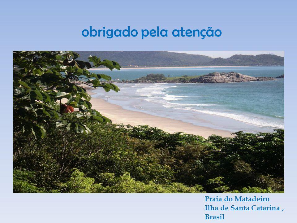 obrigado pela atenção Praia do Matadeiro Ilha de Santa Catarina, Brasil