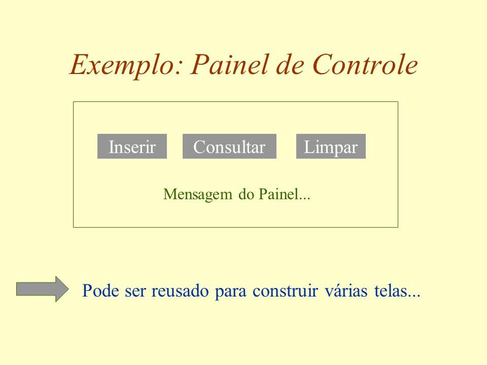 Propriedades Atributos que podem ser configurados para mudar a aparência ou o comportamento de um bean: –botão habilitado ou não, cor do botão, etc.