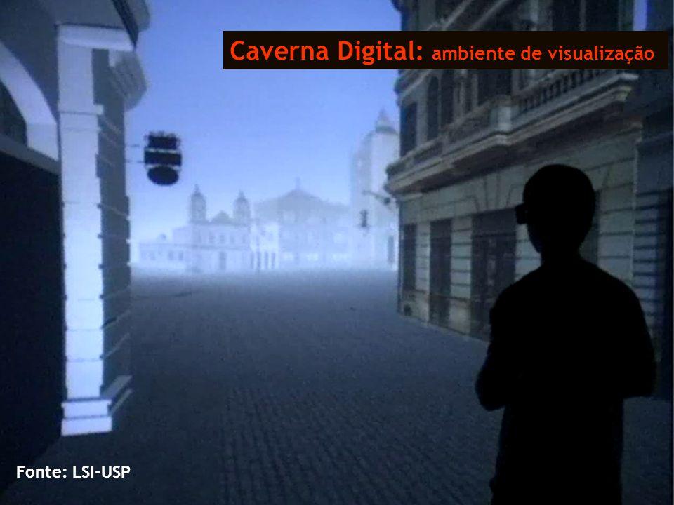 Caverna Digital: ambiente de visualização Fonte: LSI-USP
