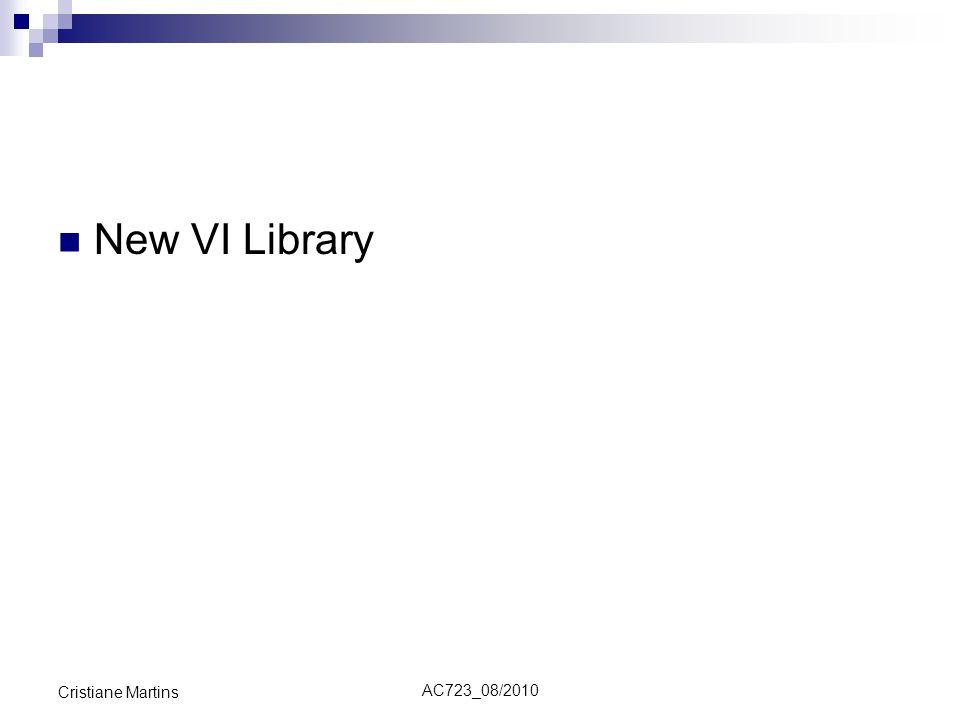 AC723_08/2010 Cristiane Martins New VI Library