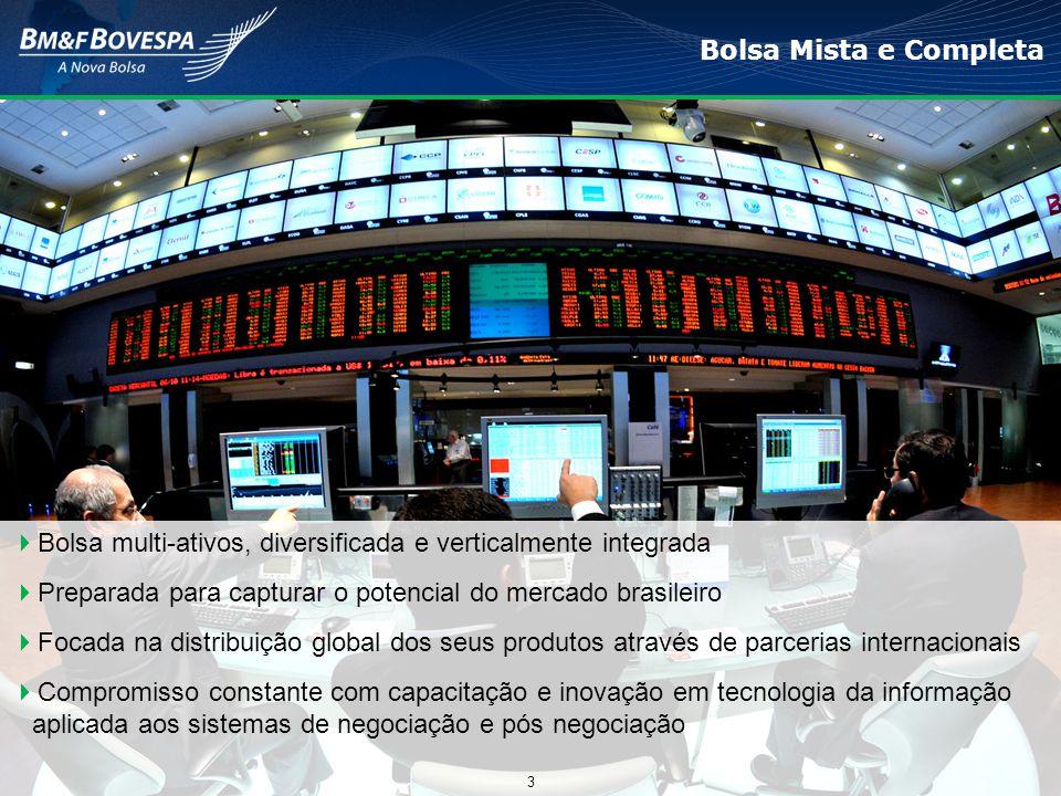 Bolsa Mista e Completa  Bolsa multi-ativos, diversificada e verticalmente integrada  Preparada para capturar o potencial do mercado brasileiro  Foc