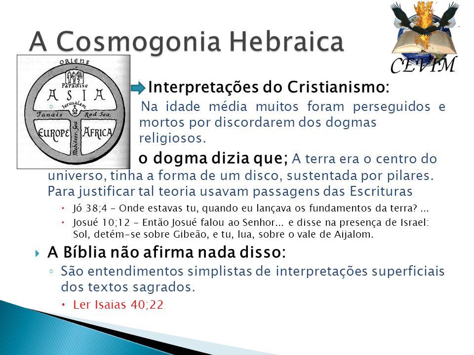 Interpretações do Cristianismo: ◦ Na idade média muitos foram perseguidos e mortos por discordarem dos dogmas religiosos. o dogma dizia que; A terra e