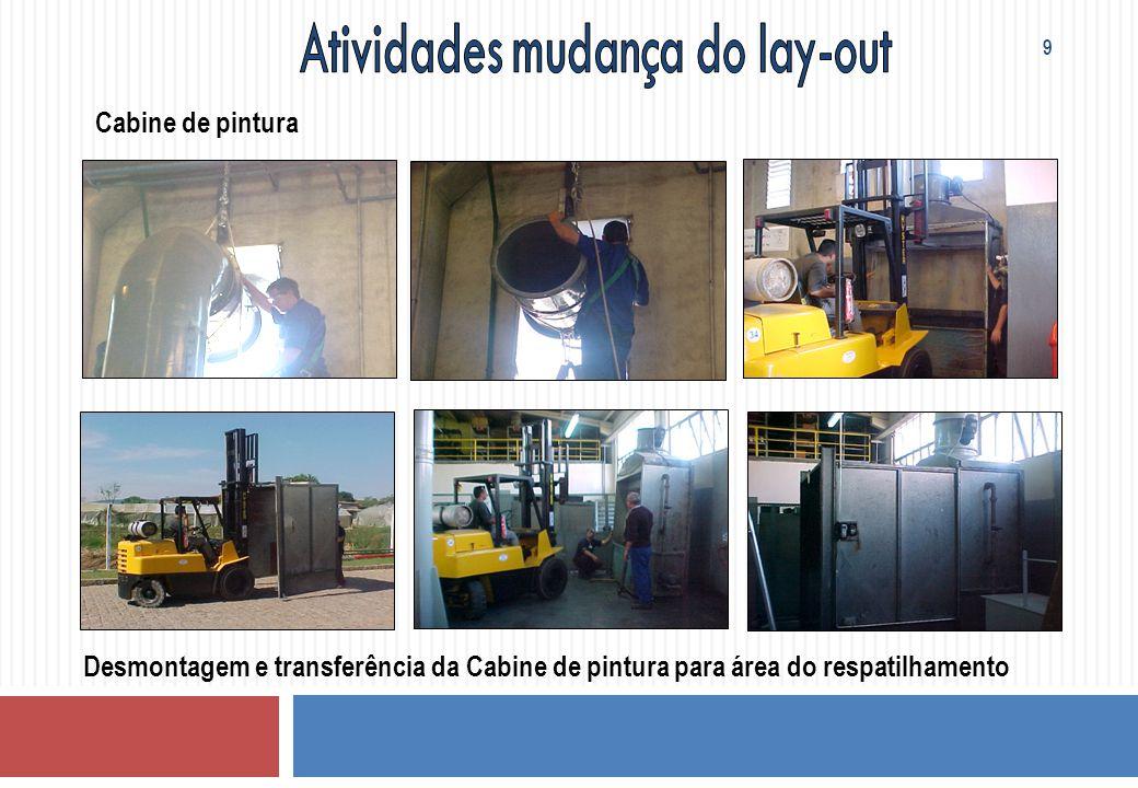 Cabine de pintura Desmontagem e transferência da Cabine de pintura para área do respatilhamento 9