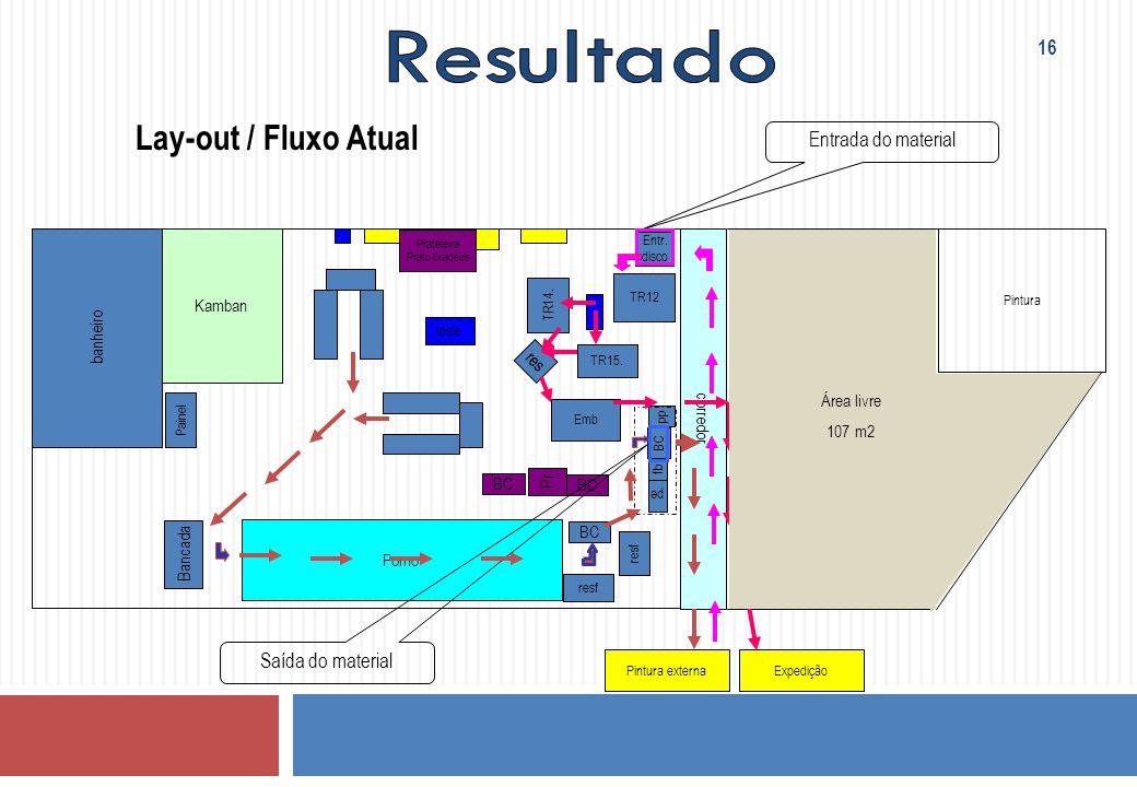 Entr. disco corredor TR15. res pe pp fb BC Bancada banheiro resf BC Forno Prateleira Prato lixadeira resf Pintura Emb teste TR14. Pr BC Painel TR12 Pi