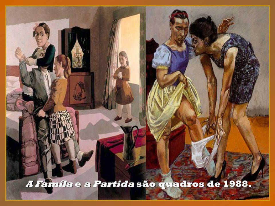 Em 1988, ano da morte do marido, Paula Rego pintou vários quadros célebres, entre os quais, o Cadete e a irmã.