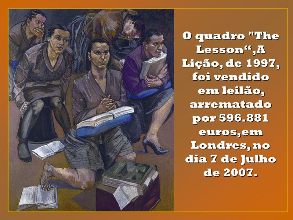 Em Paula Rego,o tema da opressão e necessidade de libertação da mulher é alegoricamen- te representado pela mulher- avestruz.