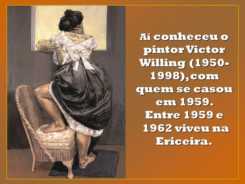 Incentivada pelo pai a prosseguir o seu desenvolvimento artístico fora do Portugal Salazarista dos anos 50, partiu para Londres, onde estudou até 1956