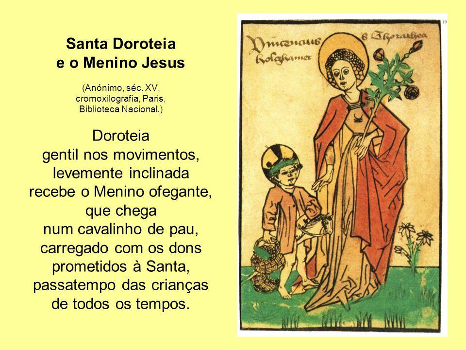 Santa Doroteia e o Menino Jesus (Anónimo, séc.