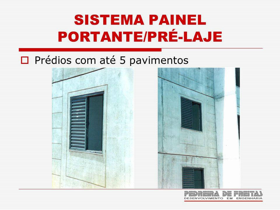 SISTEMA PAINEL PORTANTE/PRÉ-LAJE  Prédios com até 5 pavimentos