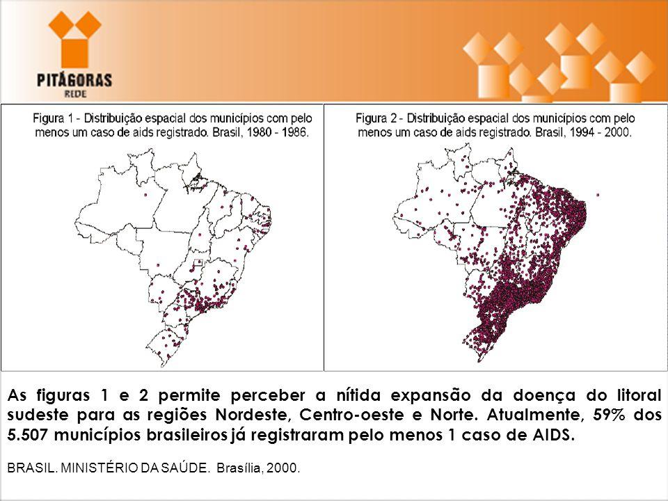 A análise das figuras 1 e 2 permite perceber a nítida expansão da doença do litoral sudeste para as regiões Nordeste, Centro-oeste e Norte. Atualmente