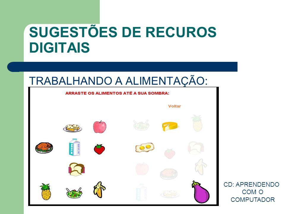 SUGESTÕES DE RECUROS DIGITAIS TRABALHANDO A ALIMENTAÇÃO: CD: APRENDENDO COM O COMPUTADOR