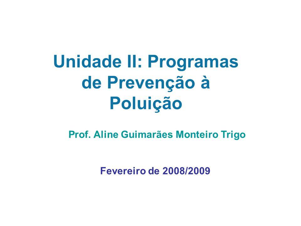 Unidade II: Programas de Prevenção à Poluição Prof.