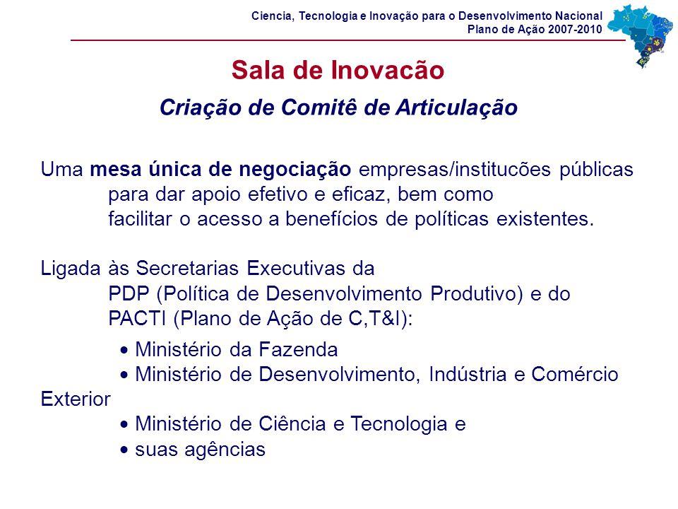 Uma mesa única de negociação empresas/institucões públicas para dar apoio efetivo e eficaz, bem como facilitar o acesso a benefícios de políticas exis