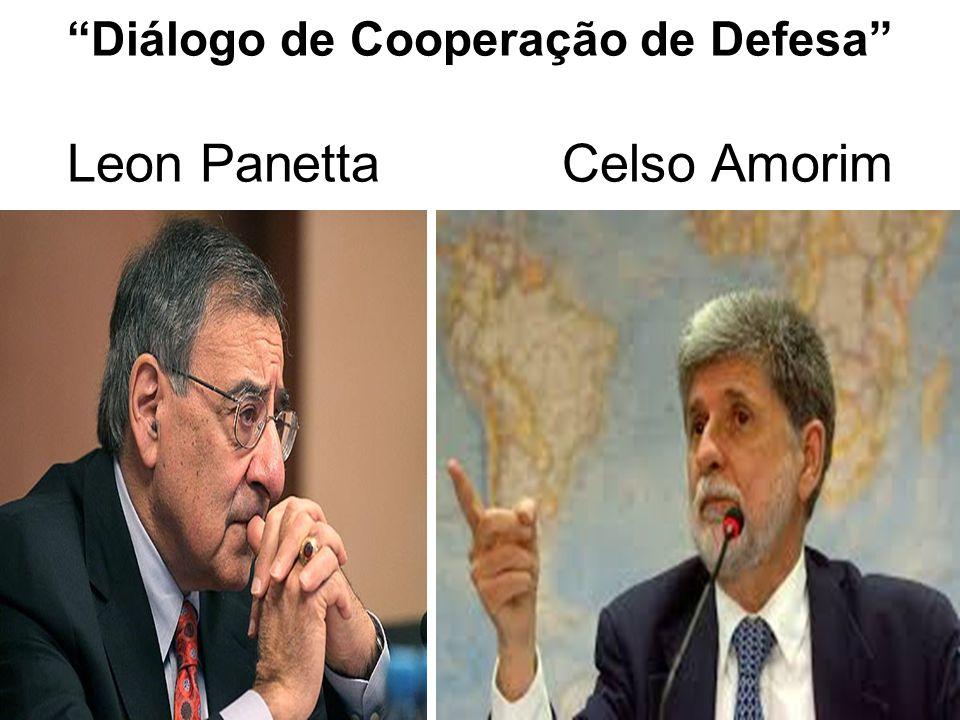 """""""Diálogo de Cooperação de Defesa"""" Leon Panetta Celso Amorim"""