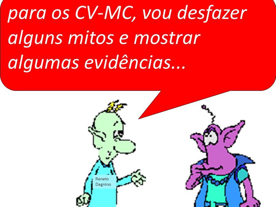 para os CV-MC, vou desfazer alguns mitos e mostrar algumas evidências... Renato Dagnino