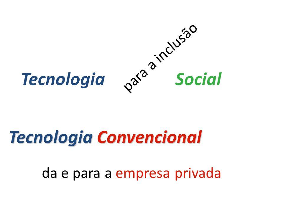 para a inclusão da e para a empresa privada Tecnologia Convencional TecnologiaSocial