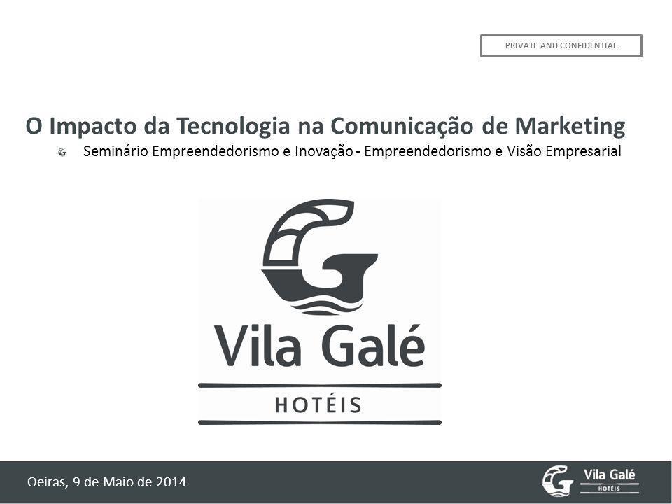 PRIVATE AND CONFIDENTIAL O Impacto da Tecnologia na Comunicação de Marketing Seminário Empreendedorismo e Inovação - Empreendedorismo e Visão Empresarial Oeiras, 9 de Maio de 2014