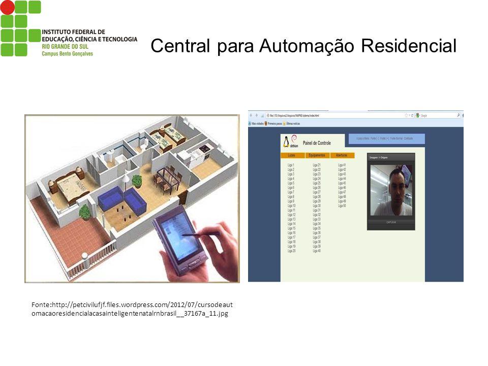 Central para Automação Residencial Fonte:http://petcivilufjf.files.wordpress.com/2012/07/cursodeaut omacaoresidencialacasainteligentenatalrnbrasil__37
