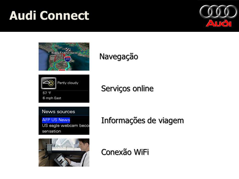 Navegação Serviços online Informações de viagem Conexão WiFi Audi Connect Audi Connect