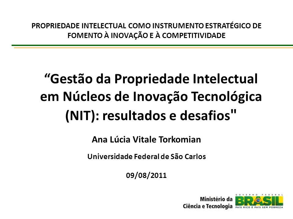 """""""Gestão da Propriedade Intelectual em Núcleos de Inovação Tecnológica (NIT): resultados e desafios"""