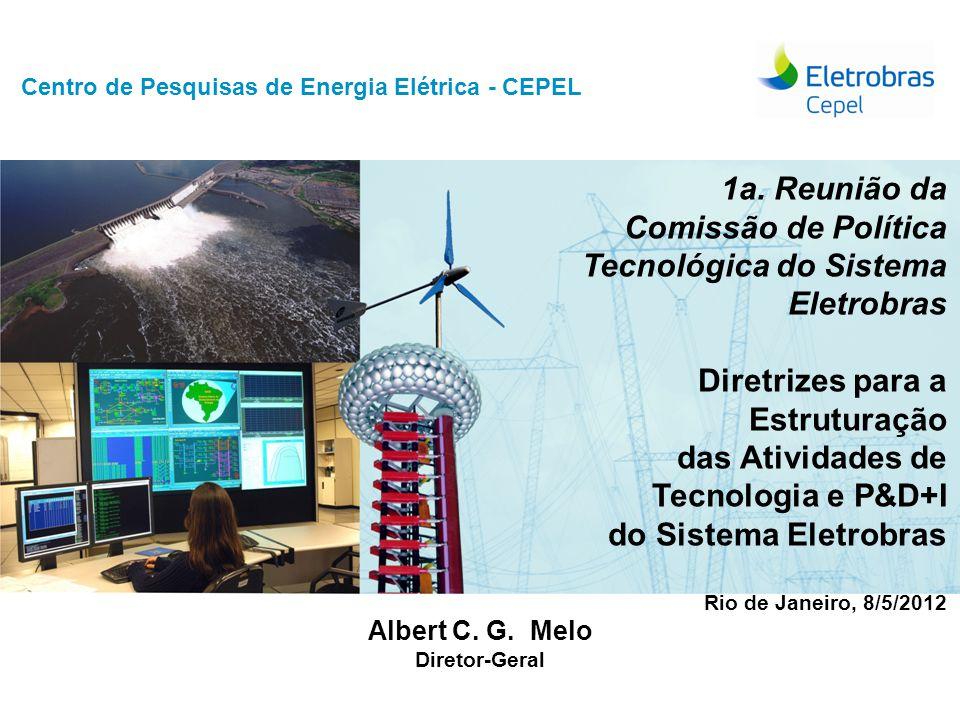 Centro de Pesquisas de Energia Elétrica - CEPELReunião CPT, maio/2012  1974: Fundação do Cepel (Eletrobras, Furnas, Chesf, Eletrosul e Eletronorte)  2000: Lei 9.991 – investimentos em P&D e Eficiência Energética  2003: Criação do CICOP – Comitê de Integração Corporativa de Pesquisa, Desenvolvimento e Inovação  2008: Plano de Transformação do Sistema Eletrobras  Aperfeiçoamento da governança corporativa  Reorientação dos negócios de distribuição  Reformulação institucional da holding  Reorganização do modelo de gestão empresarial  2009: Aprovação da Política de P&D+I do Sistema ELETROBRAS  2009: Criação da RELASE  2010: Plano Estratégico  2011: Restruturação da Holding – Diretorias G, T e D  2012 (Jul): Plano de Negócios Consolidados do Sistema Eletrobras  2012: Res-116/09.02.2012 – Reorganização das atividades de Tecnologia, Pesquisa e Desenvolvimento Tecnológico e Inovação Tecnológica (P&D+I) da Eletrobras Histórico