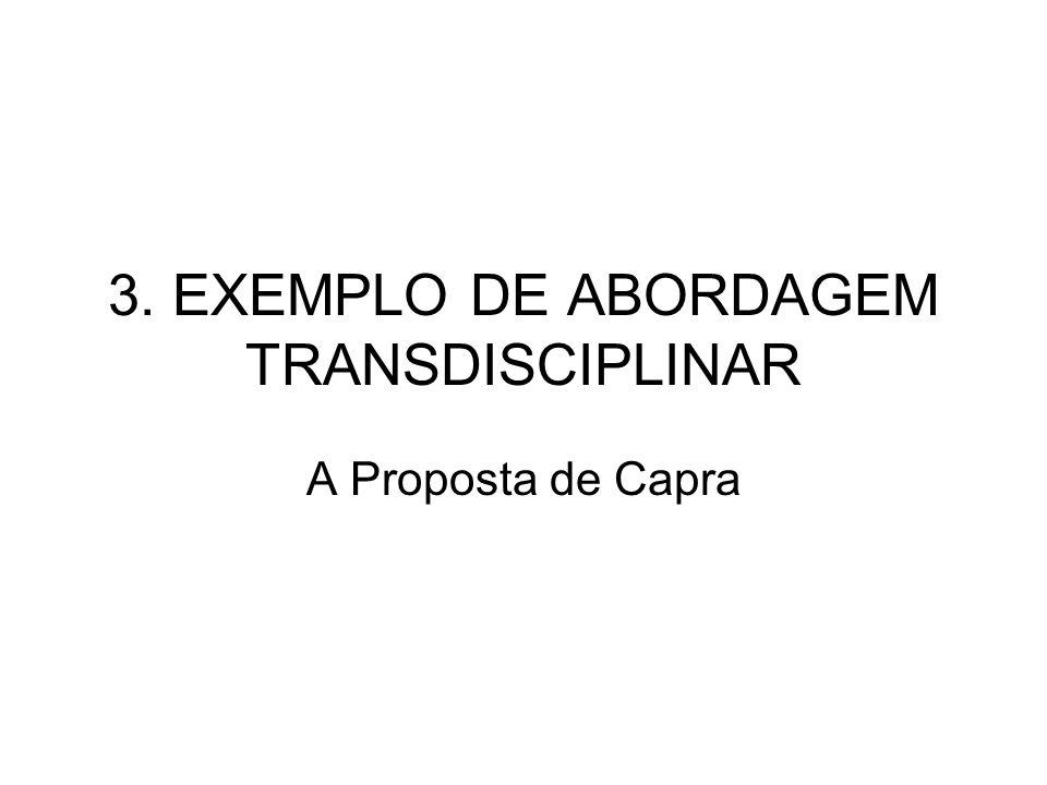 3. EXEMPLO DE ABORDAGEM TRANSDISCIPLINAR A Proposta de Capra