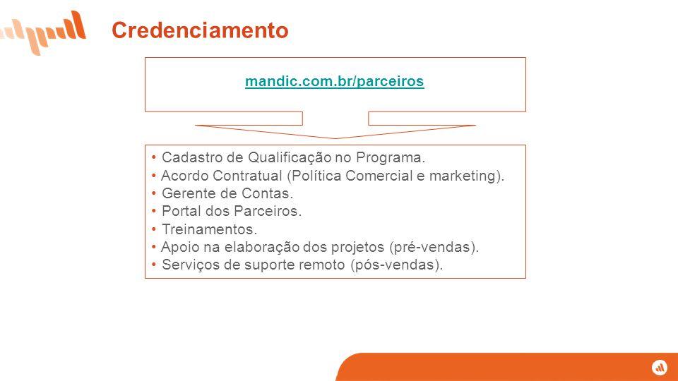 Credenciamento Cadastro de Qualificação no Programa. Acordo Contratual (Política Comercial e marketing). Gerente de Contas. Portal dos Parceiros. Trei