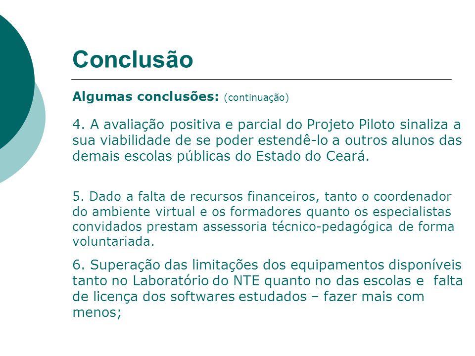 Conclusão Algumas conclusões: (continuação) 4.