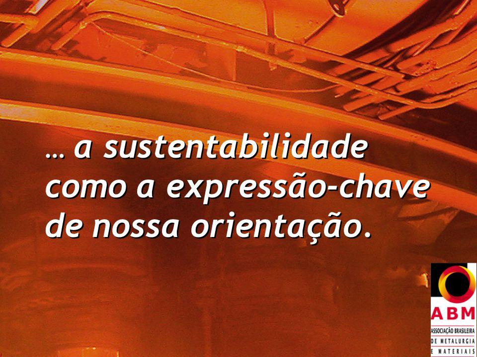 … a sustentabilidade como a expressão-chave de nossa orientação.