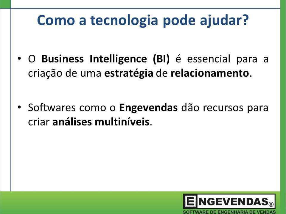 O Business Intelligence (BI) é essencial para a criação de uma estratégia de relacionamento. Softwares como o Engevendas dão recursos para criar análi