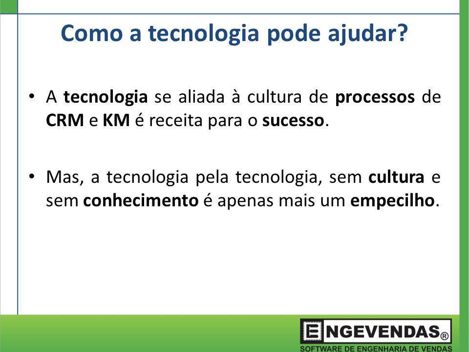 A tecnologia se aliada à cultura de processos de CRM e KM é receita para o sucesso. Mas, a tecnologia pela tecnologia, sem cultura e sem conhecimento