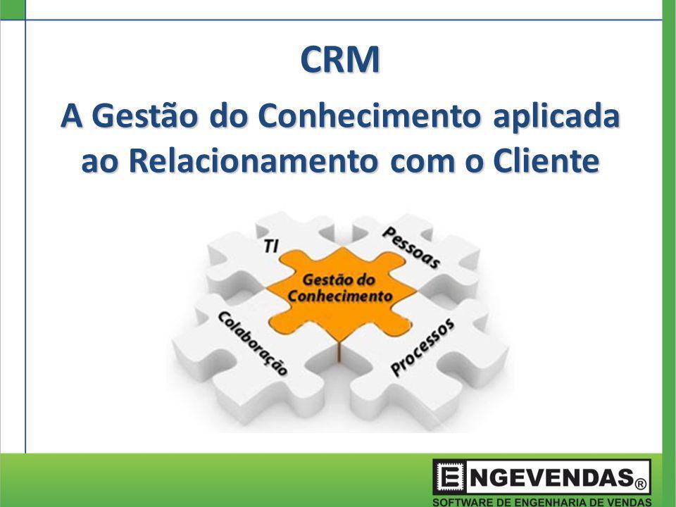 CRM A Gestão do Conhecimento aplicada ao Relacionamento com o Cliente