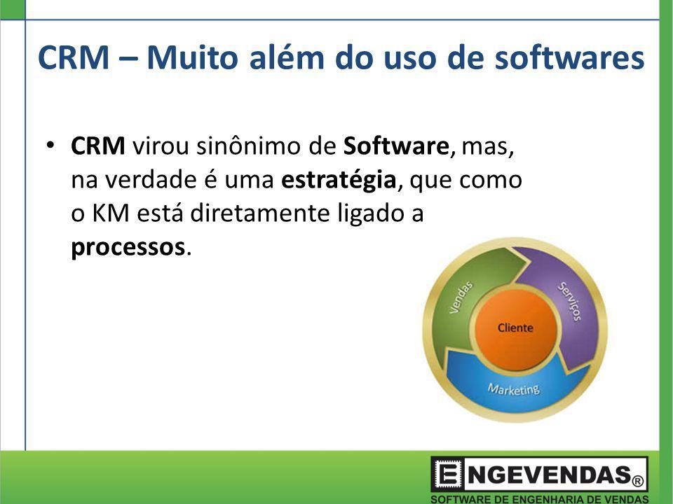 CRM virou sinônimo de Software, mas, na verdade é uma estratégia, que como o KM está diretamente ligado a processos. CRM – Muito além do uso de softwa
