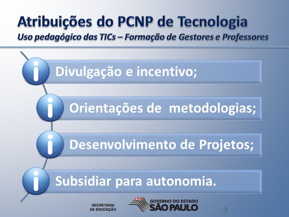 3 Divulgação e incentivo; Orientações de metodologias; Desenvolvimento de Projetos; Subsidiar para autonomia.