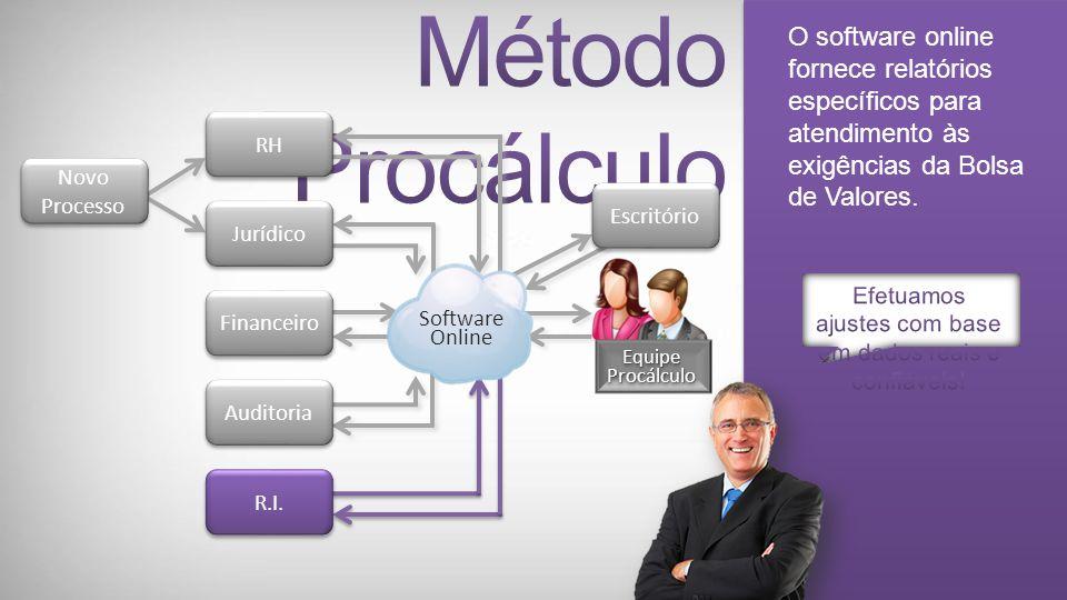 A Auditoria tem acesso aos valores consolidados e analíticos por títulos, êxito e partes contrárias.