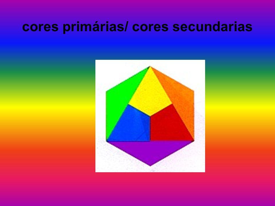 cores terciárias Por definição: cores terciárias: são todas aquelas que resultam da mistura das três cores primárias