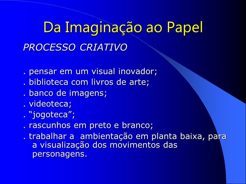 Da Imaginação ao Papel PROCESSO CRIATIVO.pensar em um visual inovador;.